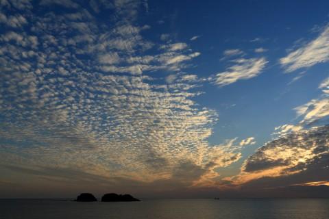 鹿島と鱗雲
