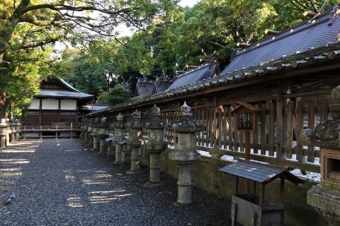 闘鶏神社境内